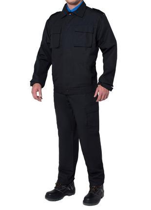 Костюм охранника с брюками черный
