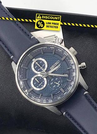 - 40%   мужские часы хронограф seiko chronograph 43 мм ssb333p1