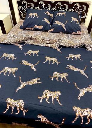Постельное белье леопарди полуторка / двуспалка / сімейка