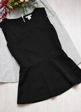 Блузка с баской из фактурной ткани h&m