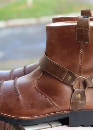 Зимние кожаные ботинки rieker 47-48
