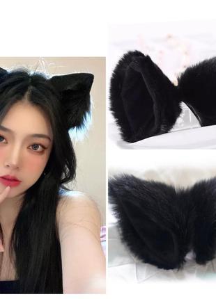 Кошачьи ушки на заколках, аниме