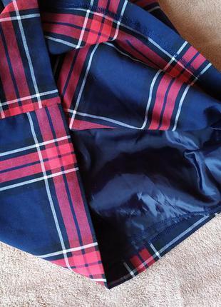 Акиуальная,клетчатая юбка трапеция с высокой талией