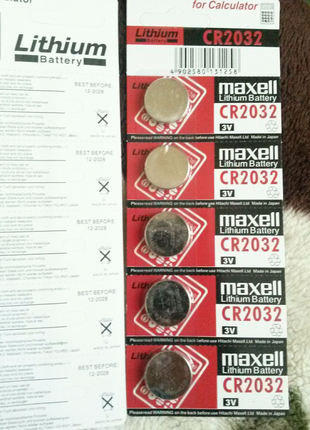 Батарейка Maxell CR2032 (до 2028 г.)