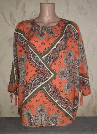 Блузка в платочный принт летучая мышь, кимоно
