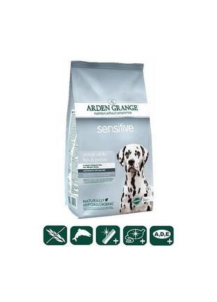 Arden Grange Sensitive 12кг корм для собак океаническая белая рыб