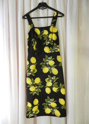 ⛔✅ красивое платье по фигуре с сочными и яркими лимонами
