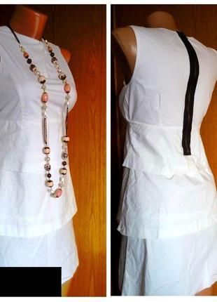 Модное женское платье zara из стрейч коттона ярусами