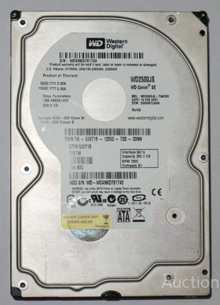 Жесткий диск 3.5'' Model WDC WD2500JS-75NCB3 250GB