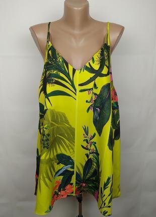 Блуза новая стильная в тропический принт большого размера next uk