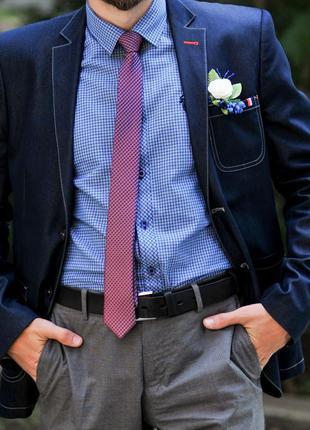 Мужской костюм пиджак деловой современный приталенный свадебный