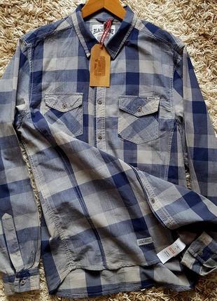 Тонкая брендовая хлопковая рубашка blackstone
