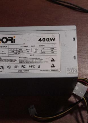 Бу блок питания QORi ATX2.03(P4) 400w P4, 24pin+4pin, w/Sata, ATX