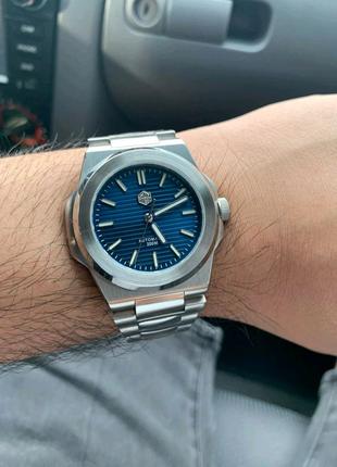 Часы для дайвинга San Martin SN076G хомаж Patek Philippe Nautilus