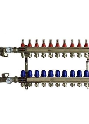 Коллектор для теплого пола на 11 контуров в сборе (KOER)