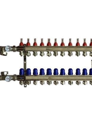 Коллектор для теплого пола на 12 контуров в сборе (KOER)