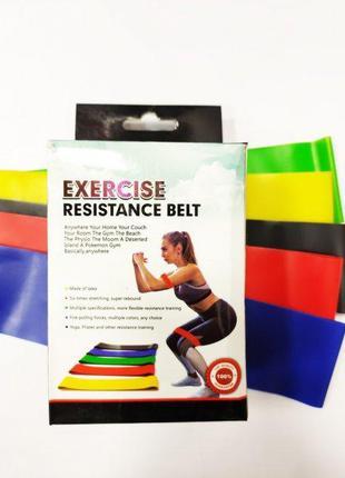 Набор фитнес резинок exercise resistance bands для фитнеса и спор