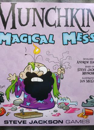 """Настольная игра Манчкин: """"Magical Mess Deluxe"""" на английском."""