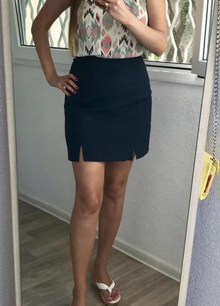 Базовая синяя юбка pimkie