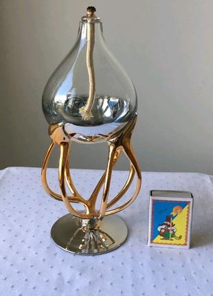 Керосиновая масляная лампа. ретро, винтаж. польша