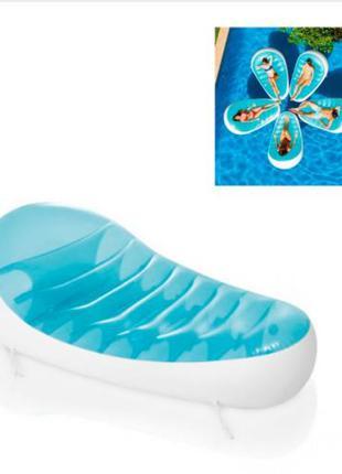 Пляжный надувной Плотик Шезлонг INTEX 193 х 124 см