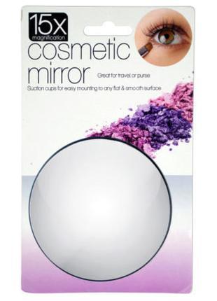 Увеличительное косметические макро зеркало на присосках с 15x15-к
