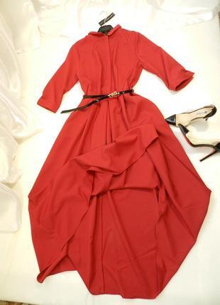 ⛔✅ нереально красивое пышное платье с поясом ( без брошки)