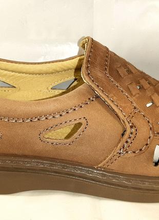 Нубуковые туфли-сандалии TIGINA. 43,45,46,47.