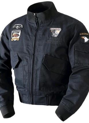 Мужская тёплая куртка-пилот, куртка-бомбер