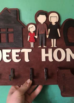 ключниця Sweet home з дерева