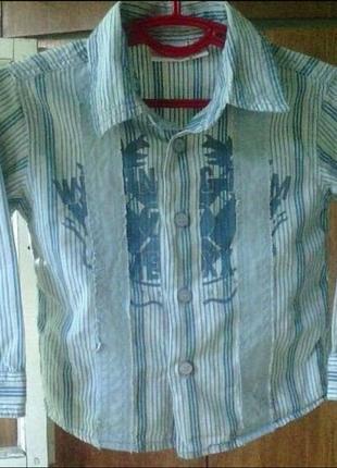 ☃️ акция 🔥 1+1=3 стильная рубашка mexx 9-12 м