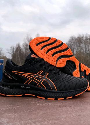 Мужские спортивные кроссовки Asics Gel-Nimbus 22 Black Orange чер