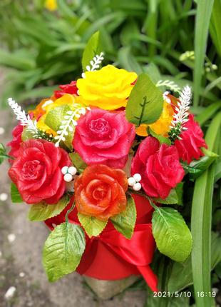 Цветы из мыла. Оригинальный, приятный подарок