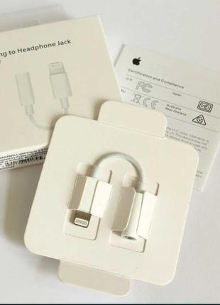 Original Переходник/Адаптер Apple Lightning - 3.5 mm/Iphone/Ай...