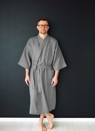 Мужские льняные халаты