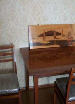 Стол [120х80] и 6-Стульев [начало 1970-е] производство ГДР