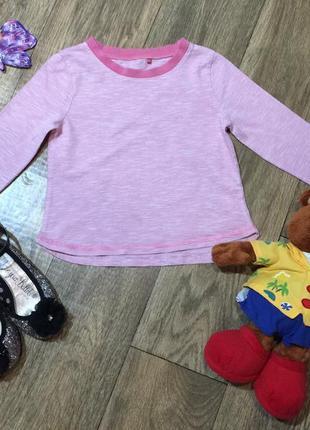 Полосатый хлопковый реглан для девочки на 3\4 года