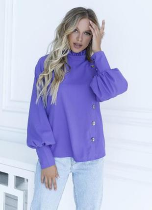 Блуза с вставкой и рюшами цвета размеры фабрика украина
