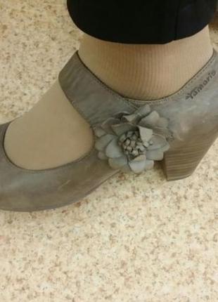 Кожаные туфли Tamaris 40р.