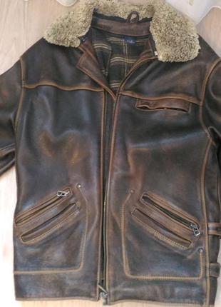 Кожанная куртка Wrangler
