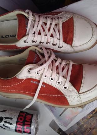 Кроссовки туфли lowa кожа 37 37.5 женские полуботинки 24 см