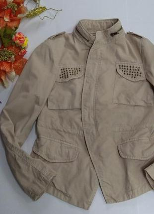 Куртка стильная zara basic 100% коттон размер s