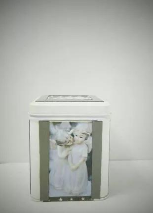 Новогодняя рождественская баночка коробочка в технике декупаж Han