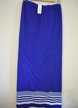 Распродажа!!!новая длинная трикотажная юбка