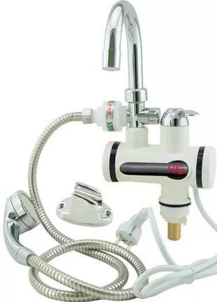 Delimano - цифровой кран-водонагреватель с душем