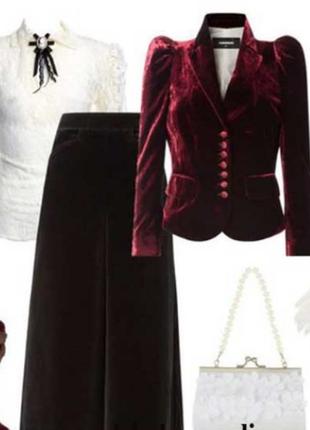 Брендовый велюровый бархатный пиджак жакет блейзер morgan бисе...