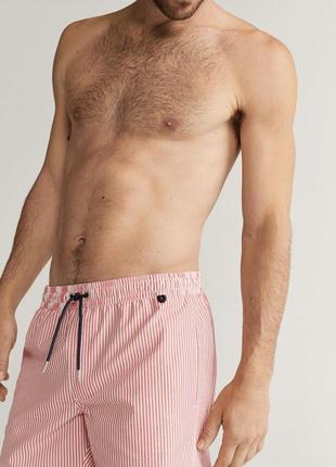 Плавательные шорты сирсакер, чоловічі плавки, шорти для пляжу.