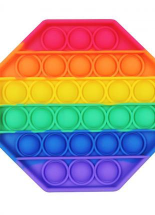 Антистресс сенсорная игрушка Pop It Восьмиугольник Силиконовая