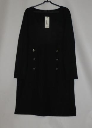 Черное платье с длинным рукавом на p.22