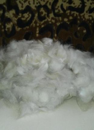 Зимний пух после вычеса, порода сибирский хаски. Собачья шерсть